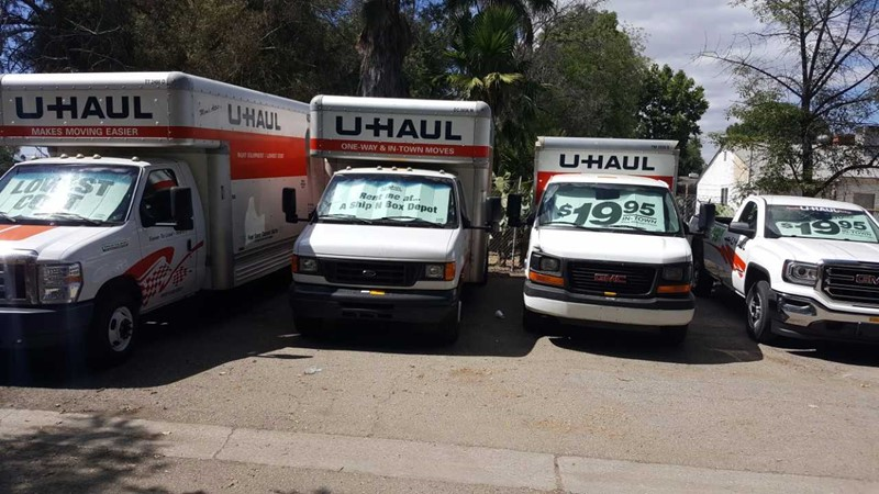 u haul rental van nuys ca ship n box depot. Black Bedroom Furniture Sets. Home Design Ideas